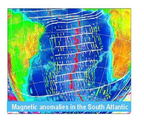 Magnetic anomalies in South Atlantic Ocean