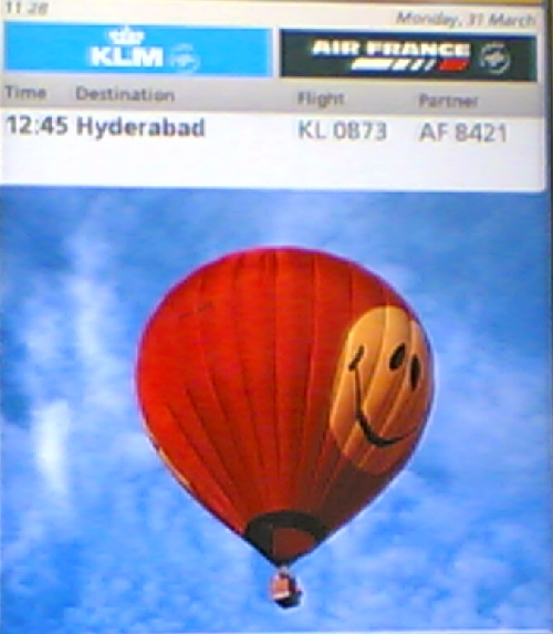 By baloon to Hyderabad?